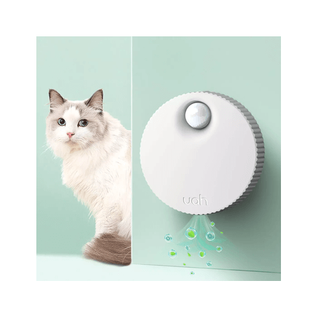 Smart Deodorizer Device Odor Cleaner for Cat Litter Box White