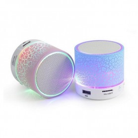 Bluetooth Speaker Mini Wireless Speaker Subwoofer Colorful LED Light Portable 20W 15W 400mah Built-in Battery Plastic Full-range