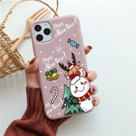 Case For iPhone 11 Pro XS Max XR SE 2020 Soft TPU Dark Green Christmas Gift Deer Cover For iphone12 Mini Case Bear